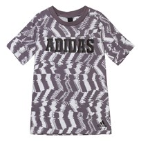 adidas Grey Branded Xcite Tee White