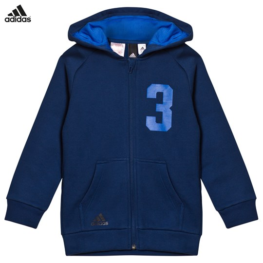 adidas Performance Navy Xcite Full Zip Hoodie MYSTERY BLUE