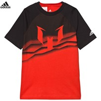 adidas Red Messi Graphic Tee Red