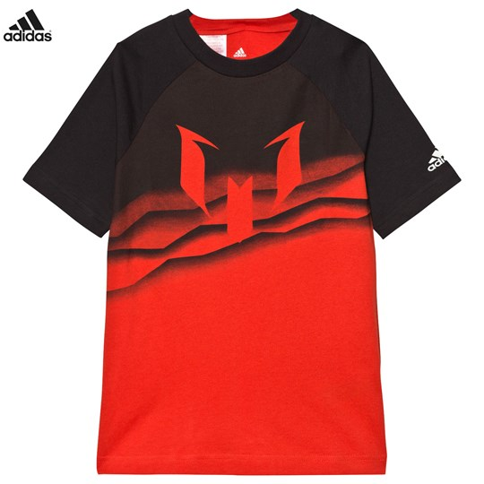 adidas Performance Red Messi Graphic Tee Rød
