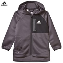 adidas Black Messi Full Zip Hoodie UTILITY BLACK