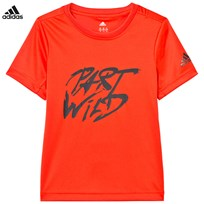 adidas Red Play Hard Slogan Tee ENERGY