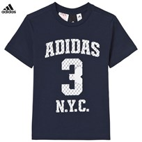 adidas Navy Number Graphic Tee Collegiate Navy