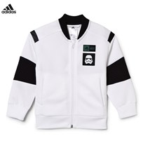 adidas White Star Wars Full Zip Bomber White