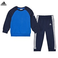 adidas Blue Crew Jumper and Joggers Set Blue