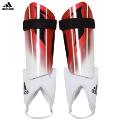 adidas Performance Red and White Messi 10 Shin Guards