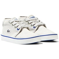 Lacoste Light Grey Twill Canvas Ampthill Infant Shoes 334