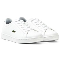 Lacoste White and Navy Classic Junior Carnaby Court Trainers 042