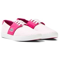 Lacoste Pink Fairchampe Children Lace Up Trainers 13C