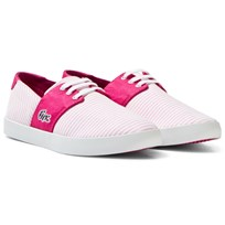 Lacoste Pink Fairchampe Junior Lace Up Trainers 13C