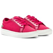 Lacoste Dark Pink Classic Textured Childrens Court 1S9