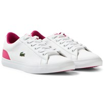 Lacoste Lerond Junior Twill Canvas Court Skor Vit B53