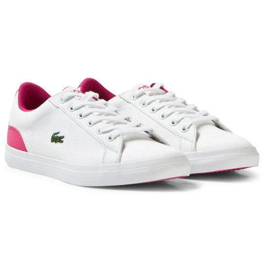 Lacoste White Lerond Junior Twill Canvas Court B53