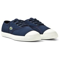 Lacoste Canvas Sneaker Junior Marinblå 003