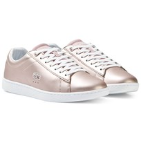 Lacoste Carnaby Evo Metallic Pink Lace up 15J