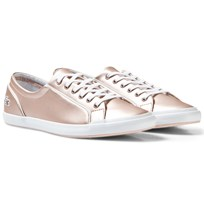 Lacoste Pink Metallic Lace up Lancelle Eye 15J