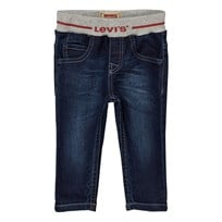 Levis Kids Mid Wash Pull Up Branded Jean 46