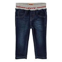 Levis Kids Mid Wash Pull Up Branded Jeans 46