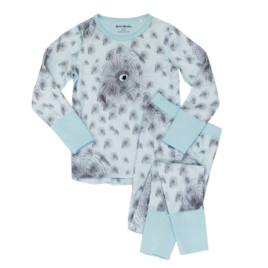 Beau & Rooster Night Owl Pyjamas Canal Blue Canal Blue