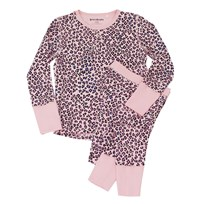Beau & Rooster Pink Leopard Pyjamas Coral Blush Coral Blush