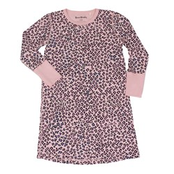 Beau & Rooster Pink Leopard Nightdress Coral Blush