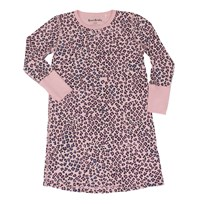 Beau & Rooster Pink Leopard Nightdress Coral Blush Coral Blush