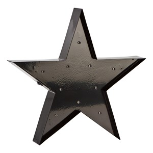 Image of Sweetlights Star Mini Marquee Lights Black One Size (665976)