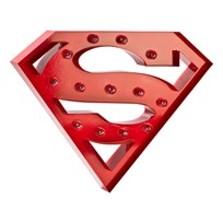 Sweetlights Superman Mini Marquee Lights Red Rød