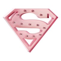 Sweetlights Supergirl Mini Marquee Lights Baby Pink Baby Pink