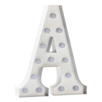 Sweetlights Letter A Mini Marquee Lights White White