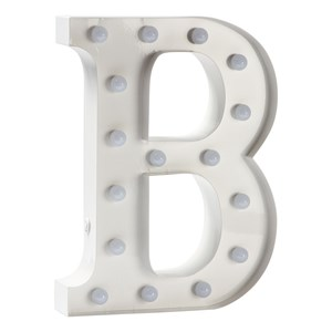 Image of Sweetlights Letter B Mini Marquee Lights White (3056049285)