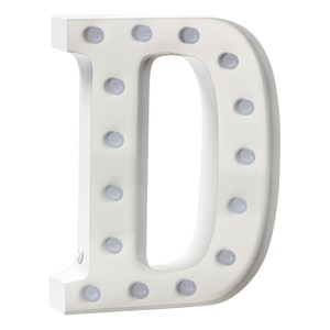 Image of Sweetlights Letter D Mini Marquee Lights White (2743702161)