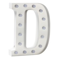 Sweetlights Letter D Mini Marquee Lights White White