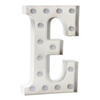 Sweetlights Letter E Mini Marquee Lights White White