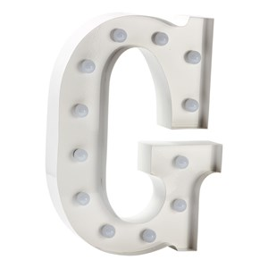 Image of Sweetlights Letter G Mini Marquee Lights White (2743702163)