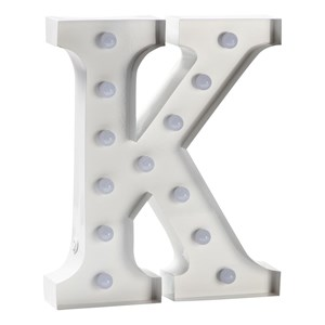 Image of Sweetlights Letter K Mini Marquee Lights White One Size (665997)