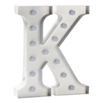 Sweetlights Letter K Mini Marquee Lights White White