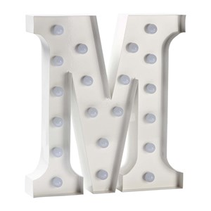 Image of Sweetlights Letter M Mini Marquee Lights White (3056049295)