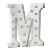 Sweetlights Letter M Mini Marquee Lights White White