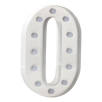 Sweetlights Letter O Mini Marquee Lights White White