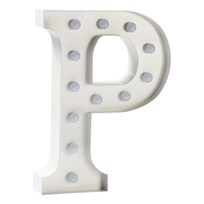 Sweetlights Letter P Mini Marquee Lights White White