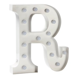 Image of Sweetlights Letter R Mini Marquee Lights White (2743702173)