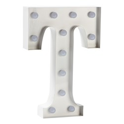 Sweetlights Letter T Mini Marquee Lights White