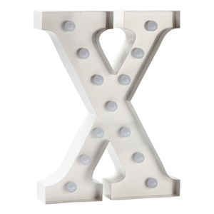 Image of Sweetlights Letter X Mini Marquee Lights White (2743702179)