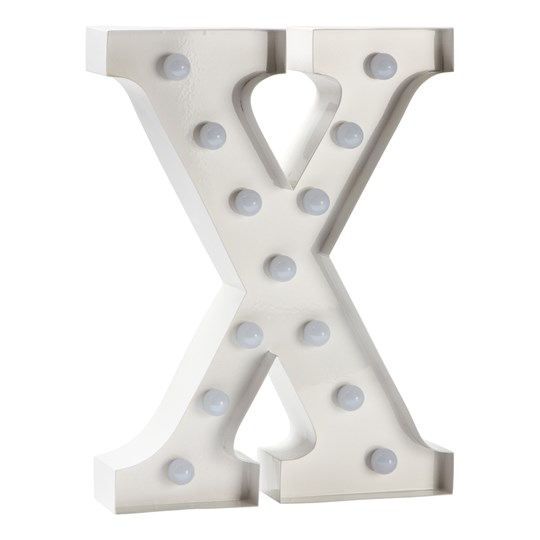 Sweetlights Letter X Mini Marquee Lights White White