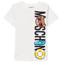 Moschino Kid-Teen Bear Beach Logo T-shirt Vit 10063