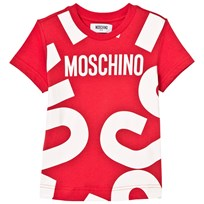 Moschino Kid-Teen Red Branded Tee 50109
