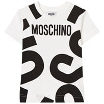 Moschino Kid-Teen White Branded Tee 10063