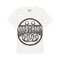 Moschino Kid-Teen White Branded Tee Mini Me 10063