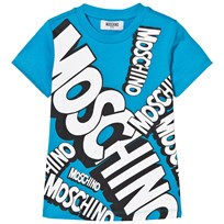 Moschino Kid-Teen Bright Blue Multi Branded T-shirt 40437